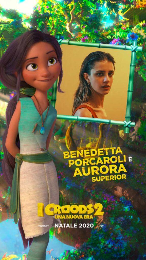 I Croods 2, Benedetta Porcaroli doppiatrice di Aurora