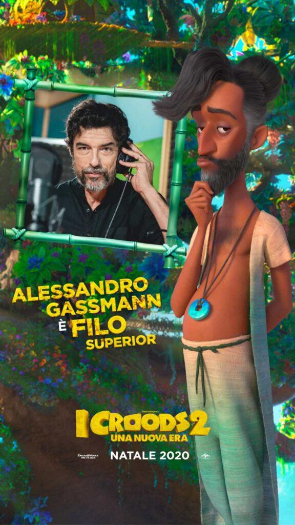 I Croods 2 - Alessandro Gassmann doppiatore di Filo