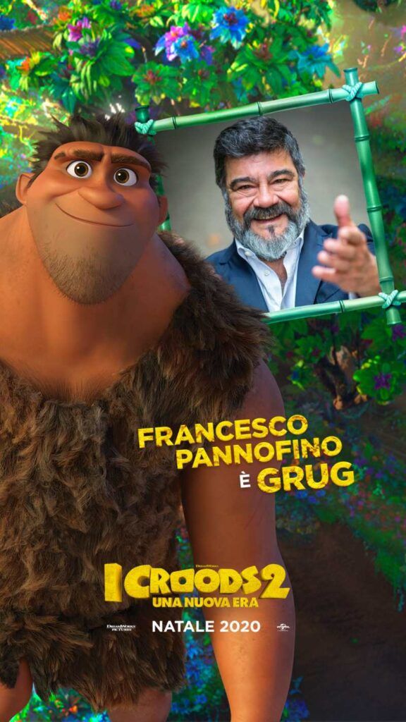 I Croods 2, Francesco Pannofino doppiatore di Grug