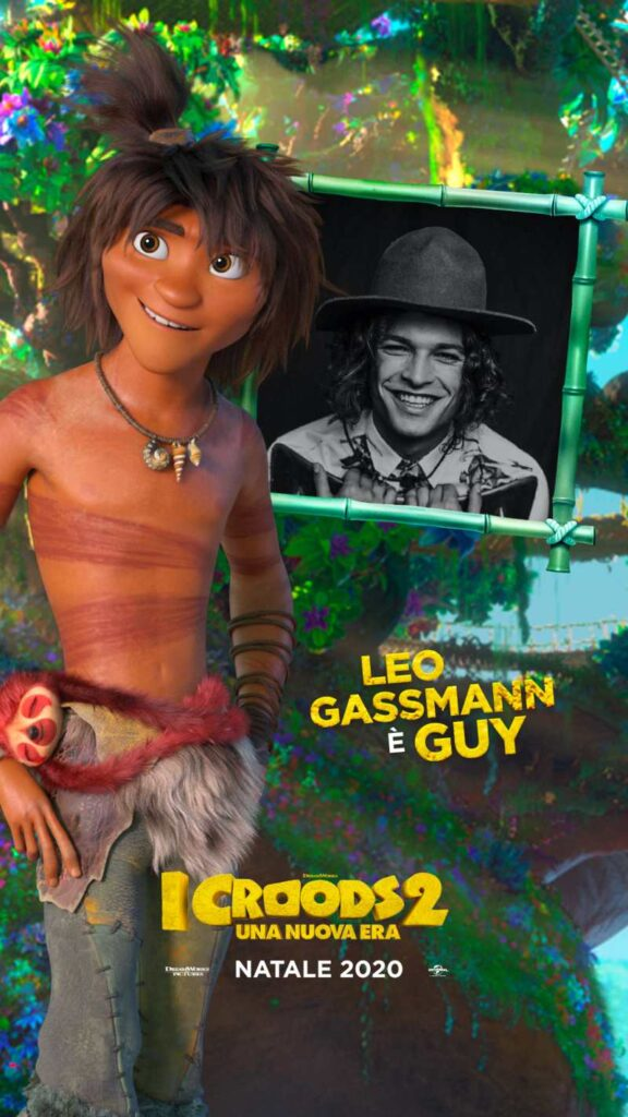 I Croods 2, Leo Gassmann doppiatore di Guy