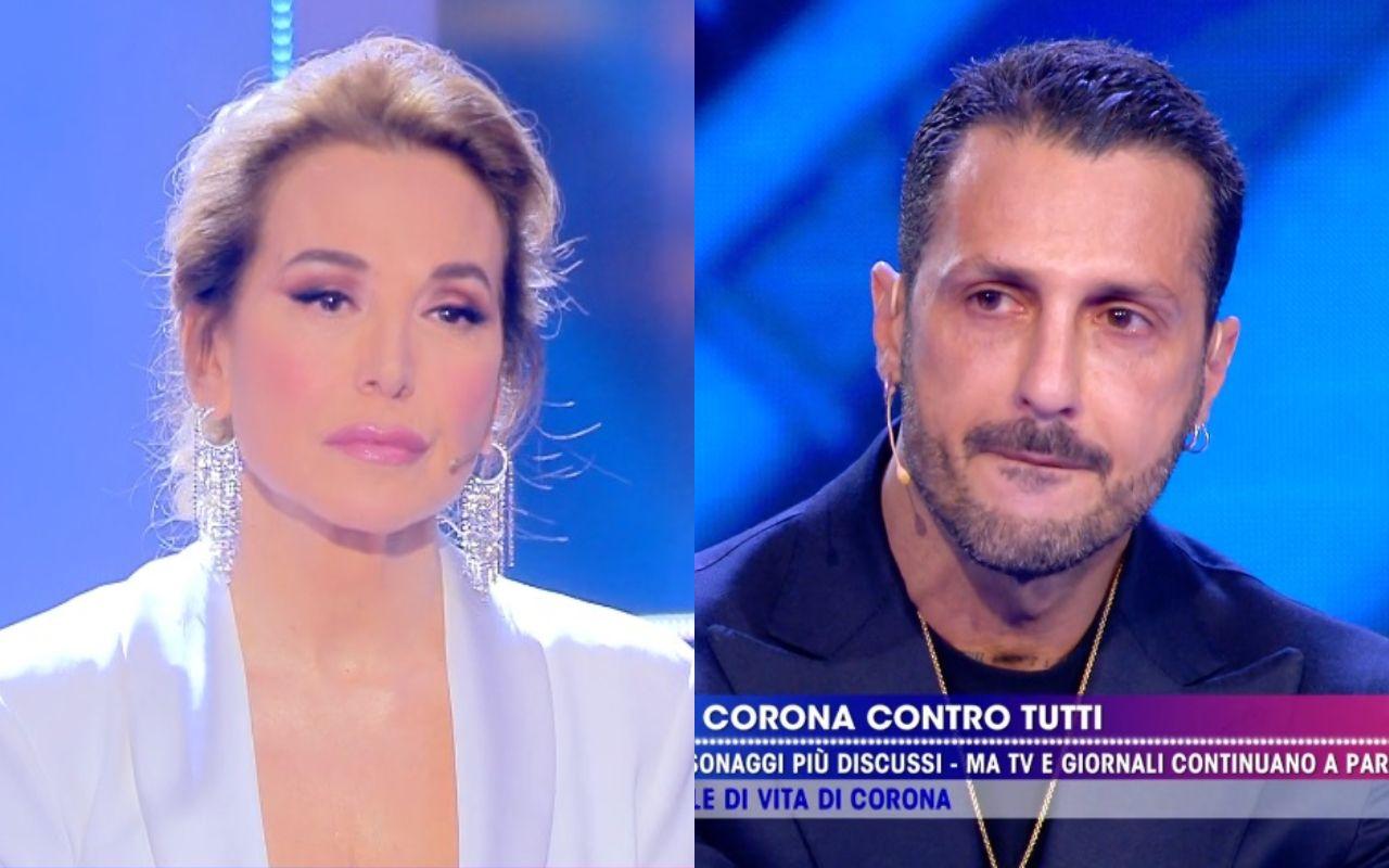 Fabrizio Corona si svela a Live Non è la D'Urso e ci prova anche con Barbara