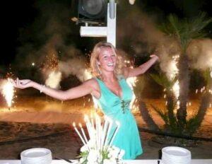 Diletta Leotta mentre festeggia