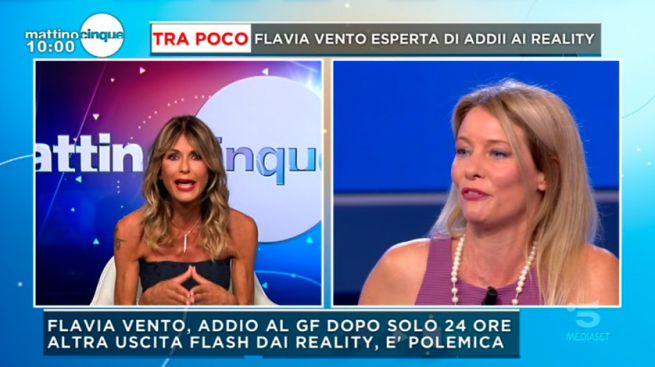 """GF Vip 5, Flavia Vento contro Arianna David a Mattino 5: """"Non siamo amiche"""""""