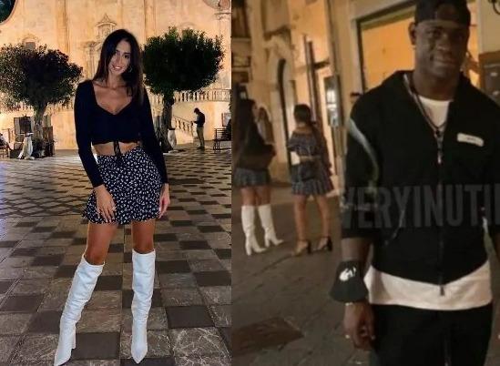 Alessia Messina e Mario Balotelli nella stessa piazza di Taormina