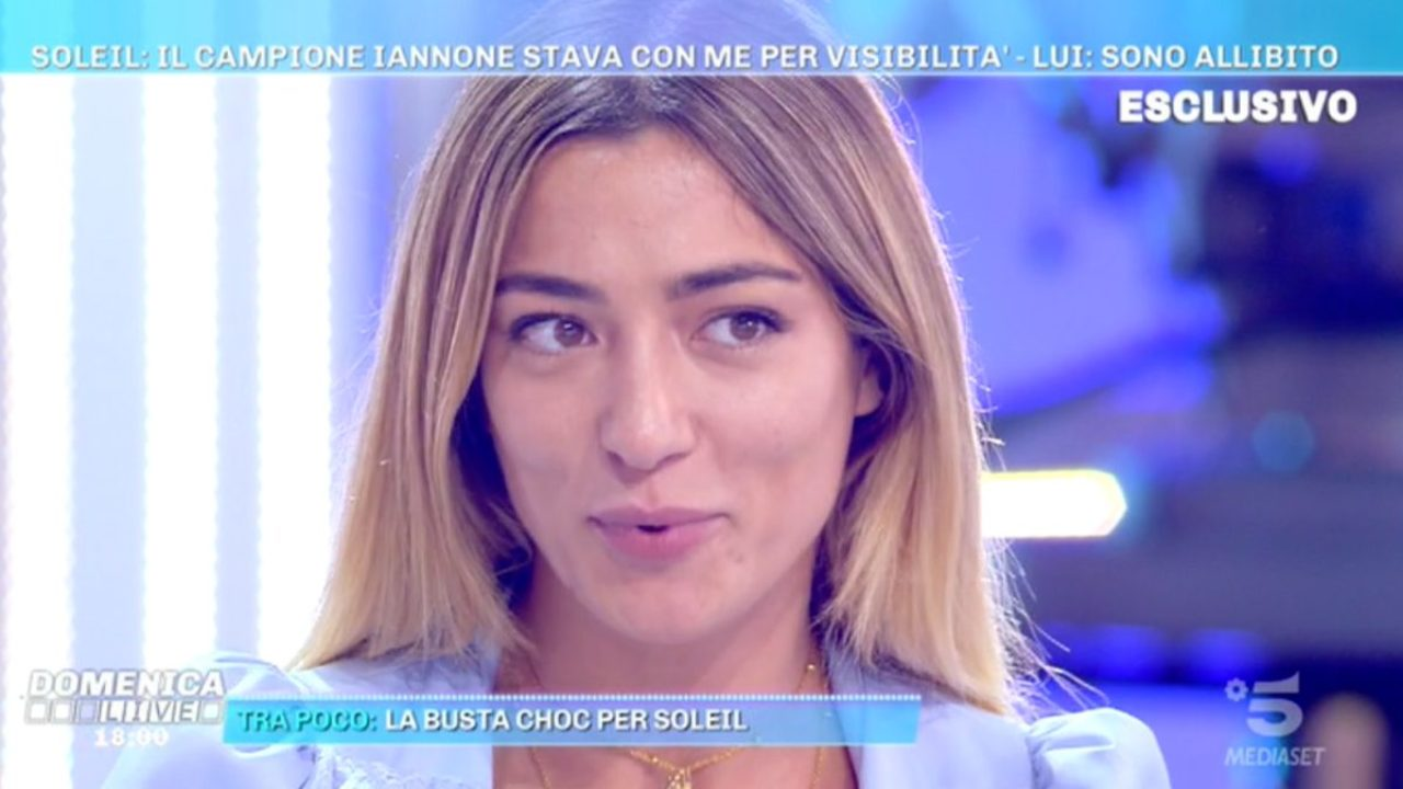 Domenica Live, Soleil Sorge torna a parlare di Andrea Iannone: smascherata da un paparazzo