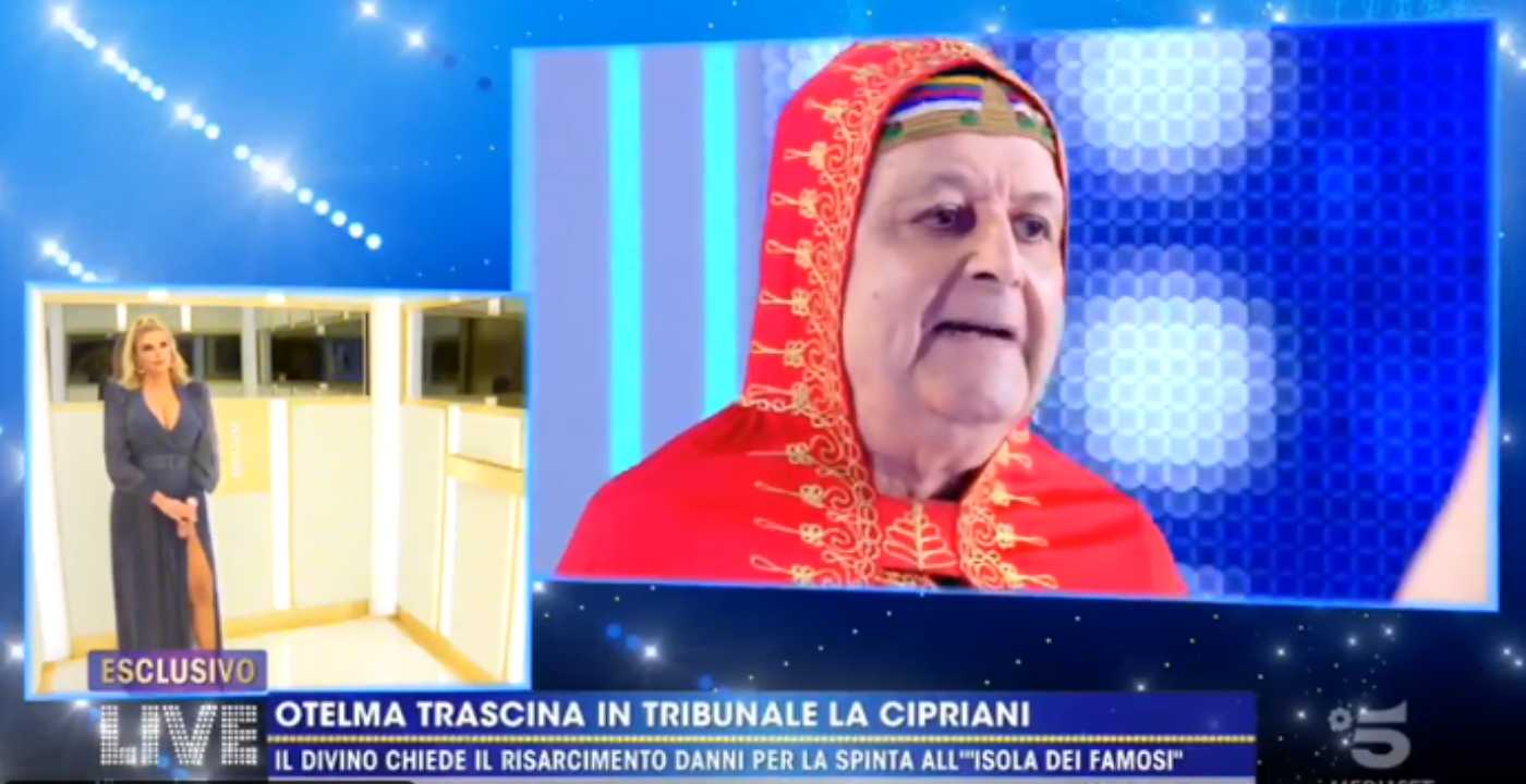 Live – Non è la d'Urso, faccia a faccia tra il Divino Otelma e Francesca Cipriani (video)