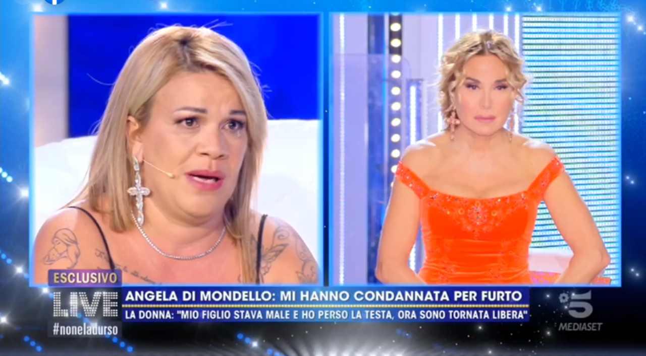 Angela da Mondello apre il suo cuore Live Non è la d'Urso