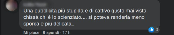 Un altro commento allo spot Nuvenia Viva la Vulva