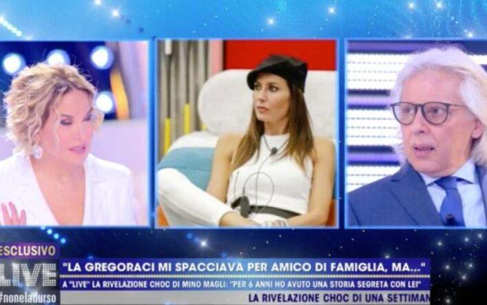 """Live – Non è la d'Urso, Mino Magli ex della Gregoraci: """"Aveva firmato un contratto con Briatore"""" (video)"""