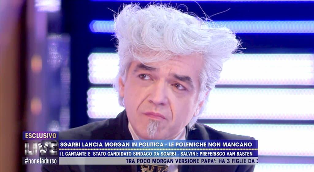 """Morgan a Live – Non è la d'Urso sulla candidatura a sindaco di Milano: """"No, non ho cambiato idea"""" (video)"""