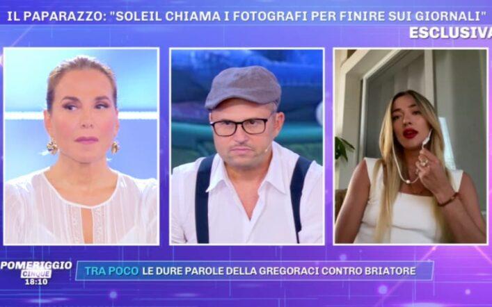 """Pomeriggio 5, Soleil minaccia di andare via? Barbara d'Urso: """"Salutame a Soreta"""" (video)"""