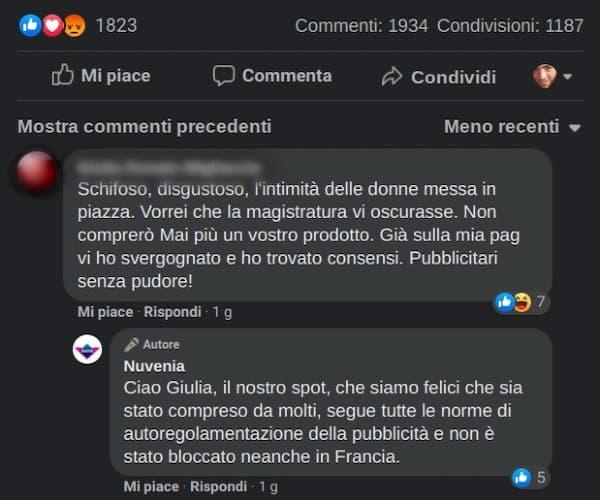 Commento al nuovo spot Nuvenia Viva la Vulva