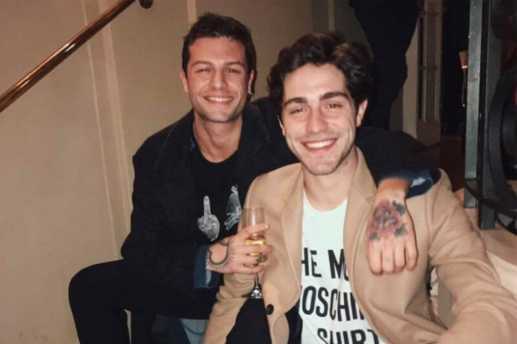 Tommaso Zorzi con Marco Ferrero (ex fidanzato)