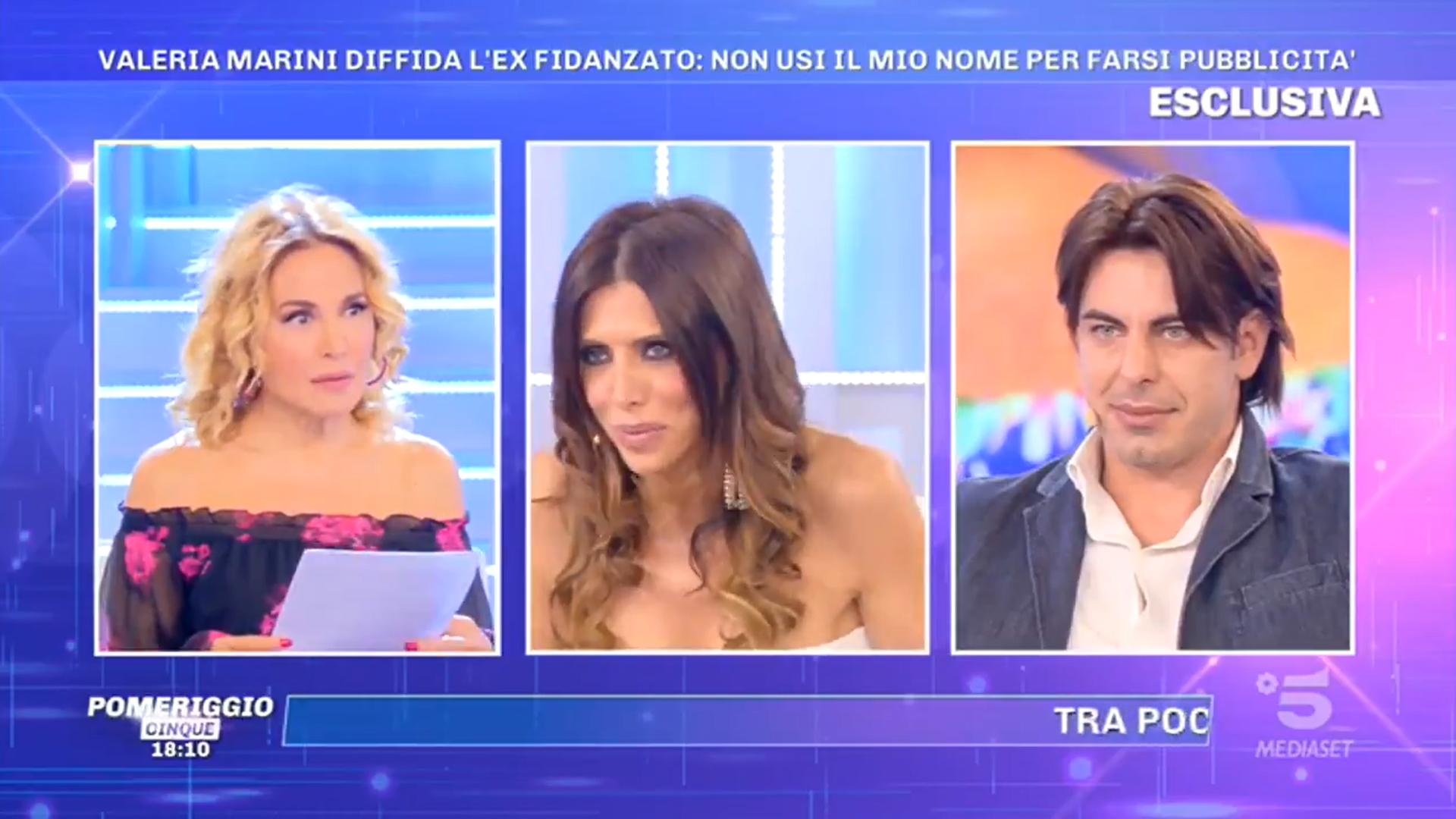Pomeriggio 5, Valeria Marini diffida il suo ex fidanzato e la Tittocchia