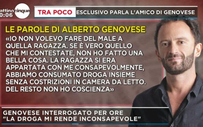 """Mattino 5, Alberto Genovese sotto interrogatorio: """"Se l'ho fatto è colpa della droga"""""""