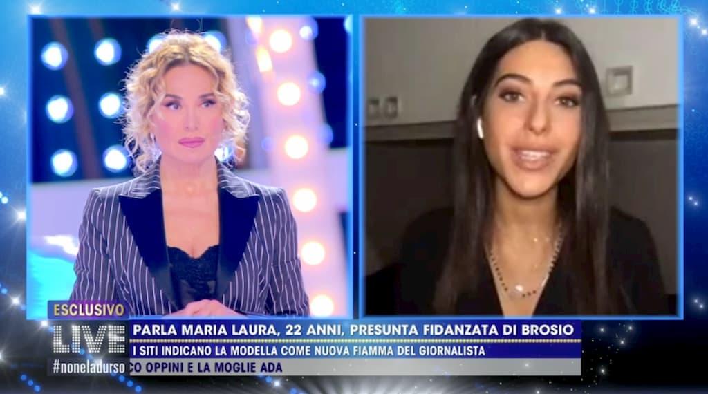 A Live Non è la d'Urso parla Maria Laura, la fidanzata 22 enne di Paolo Brosio