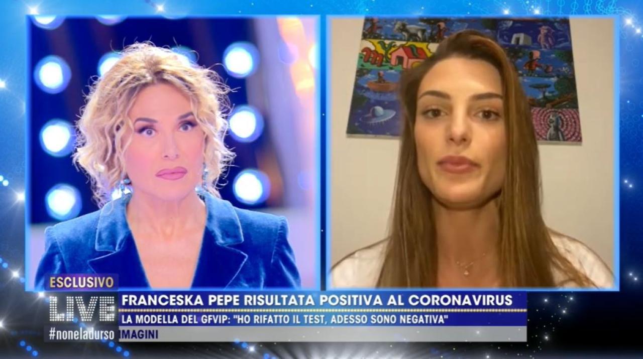 Franceska Pepe a Live Non è la D'Urso svela di essere negativa al covid