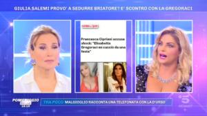Francesca Cipriani rivela a Pomeriggio 5 che la Gregoraci l'ha cacciata da una festa