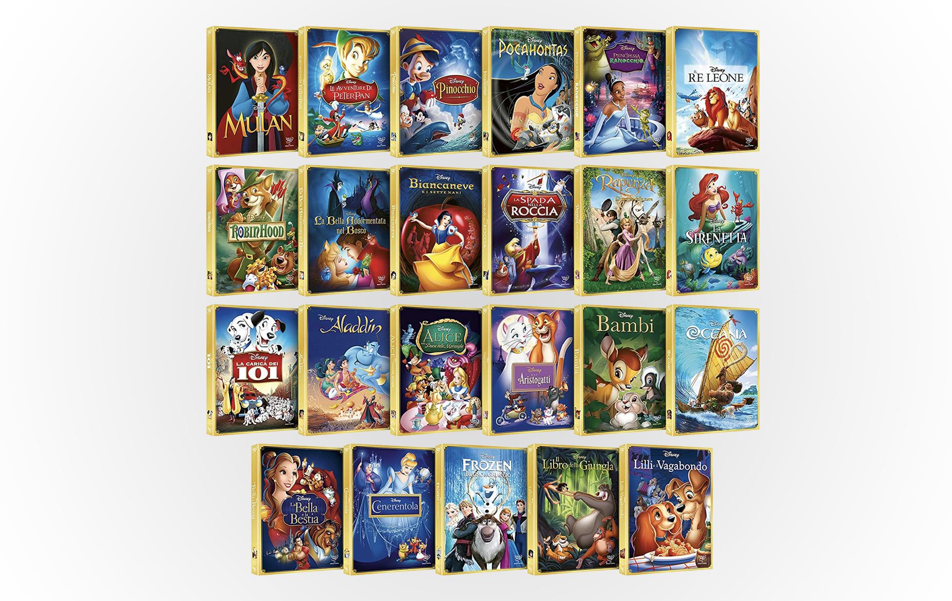 I 23 Classici Disney DVD in super offerta su Amazon, idea regalo last minute