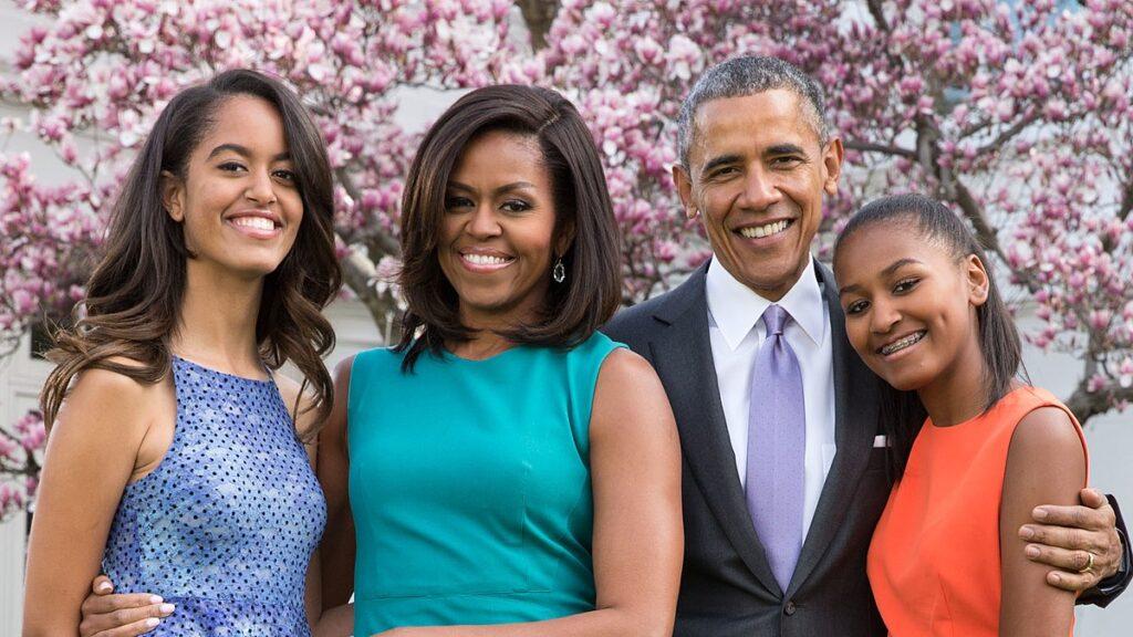 Sasha Obama e famiglia