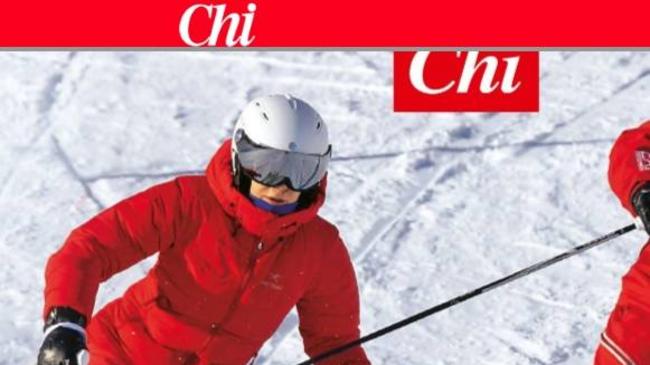 Maria De Filippi sugli sci in montagna