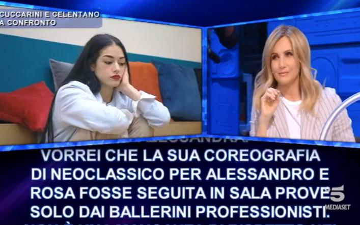 Lorella Cuccarini fa una richiesta alla produzione di Amici 20, la Celentano replica