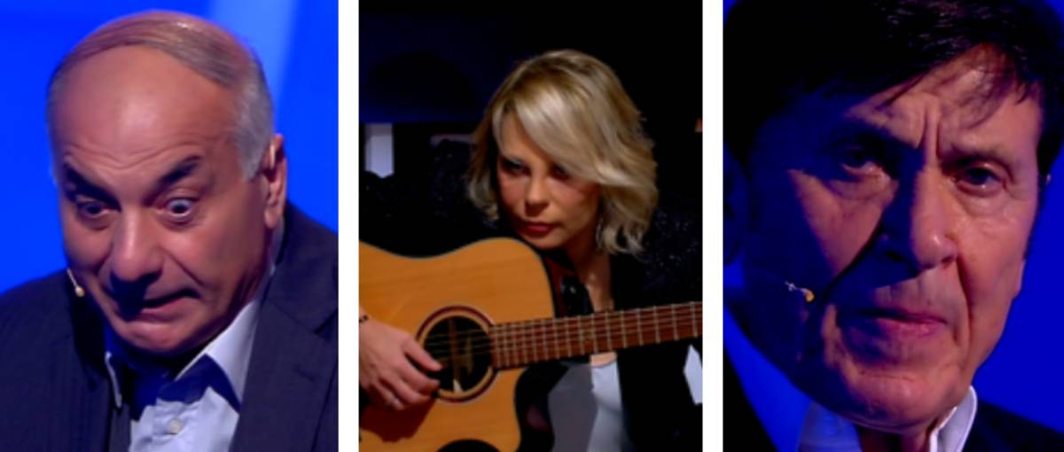 C'è posta per te, la «regina» Maria suona la chitarra con Morandi: 20 anni fa in mutande per gli ascolti