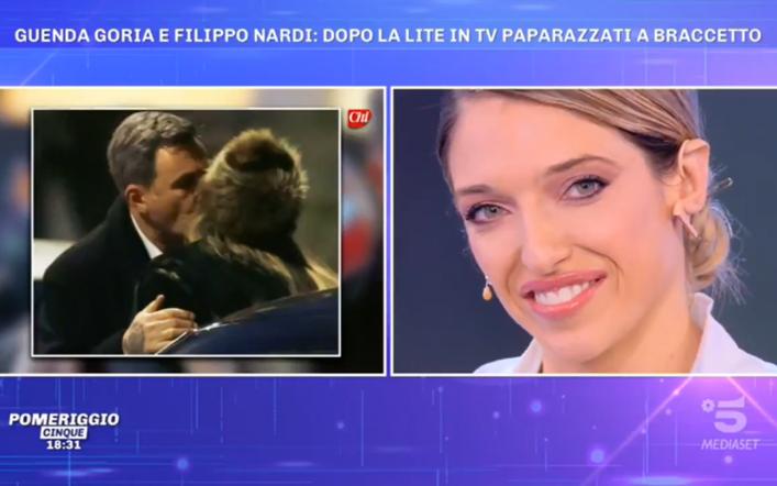 """Guenda Goria a Pomeriggio 5 smentisce Filippo Nardi: """"angolazione del paparazzo"""""""