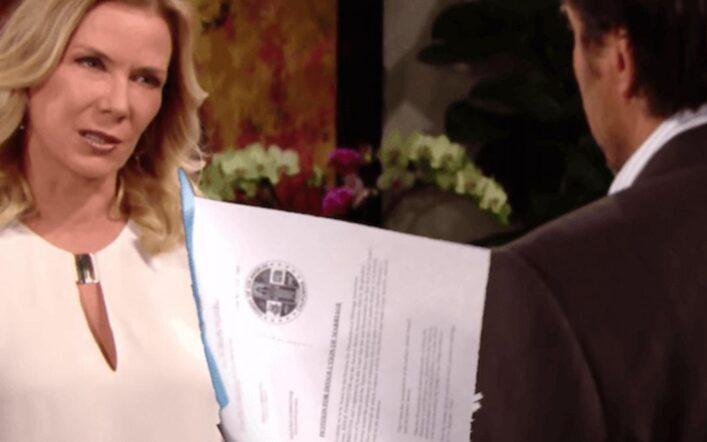 Beautiful, anticipazioni Usa: Ridge firma i documenti del divorzio