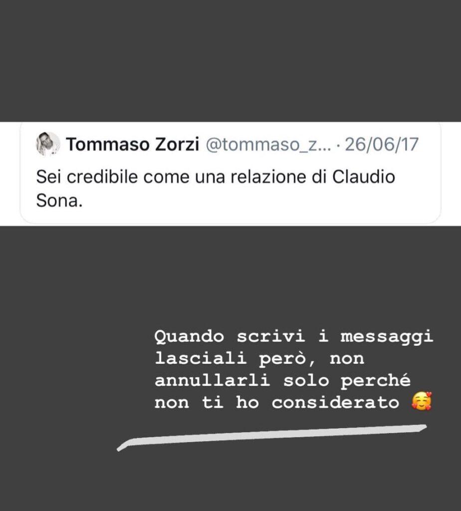 Mario Serpa e Tommaso Zorzi, caso Instagram