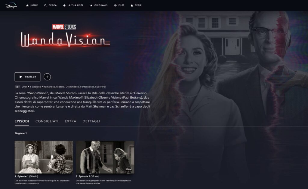 wandavision primi 2 episodi