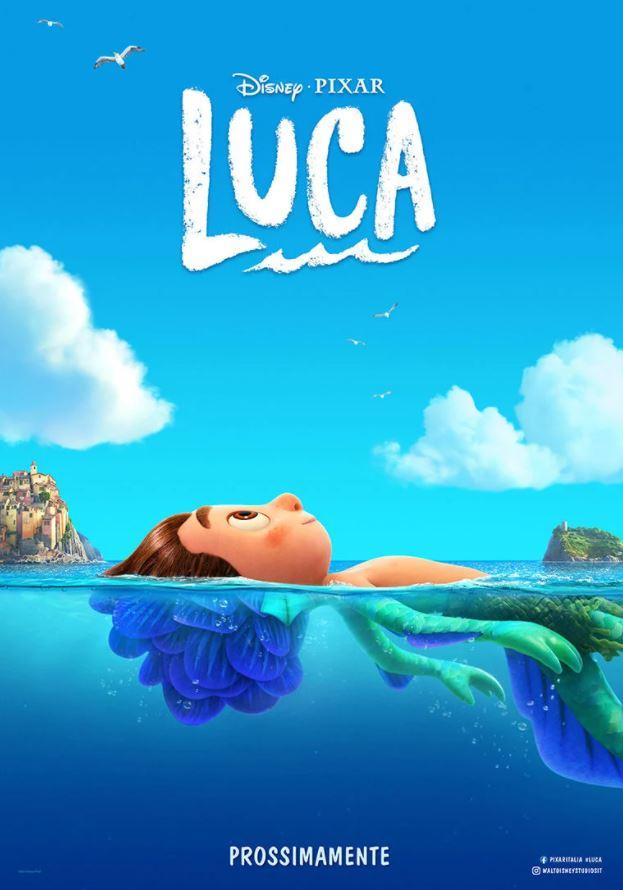 Primo poster del film animato Luca della Pixar diretto da un italiano