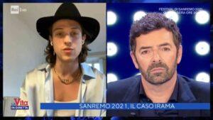 Irama dice a Le Vita in Diretta che si esibirà nella terza serata di Sanremo 2021