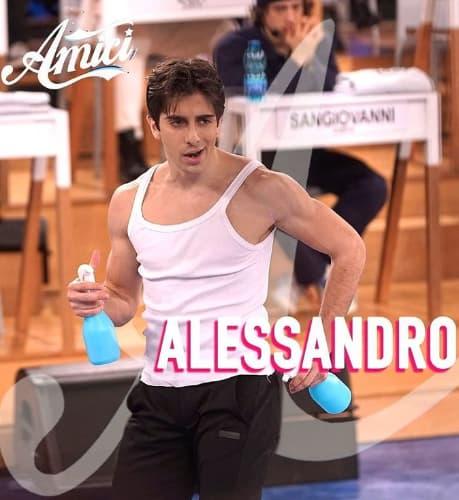 Alessandro Cavallo ballerino ad Amici