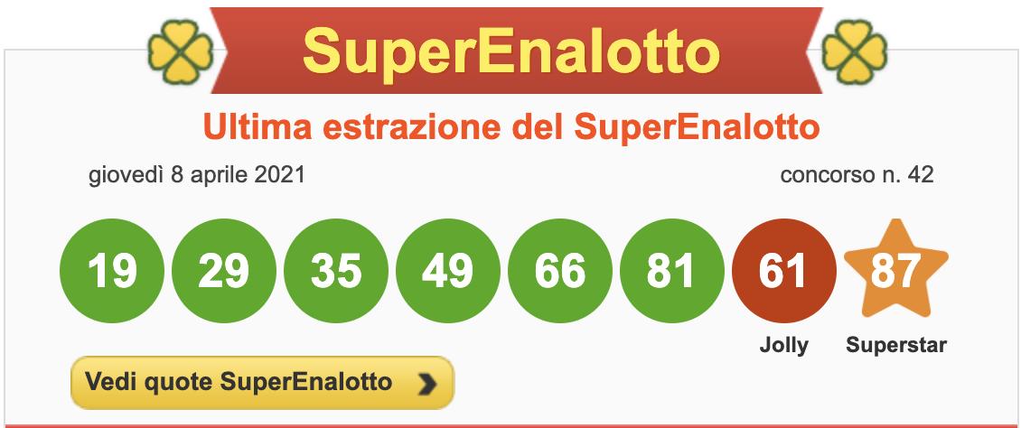 superenalotto 8 aprile