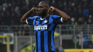 Lukaku con la maglia dell'Inter