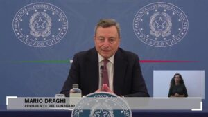 Conferenza stampa Draghi
